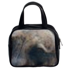 Whippet Brindle Eyes  Classic Handbags (2 Sides)