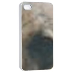 Whippet Brindle Eyes  Apple iPhone 4/4s Seamless Case (White)