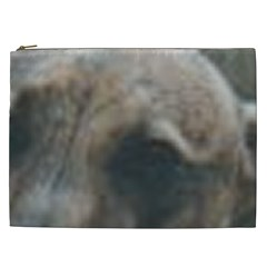 Whippet Brindle Eyes  Cosmetic Bag (XXL)
