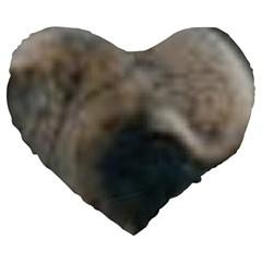 Whippet Brindle Eyes  Large 19  Premium Heart Shape Cushions