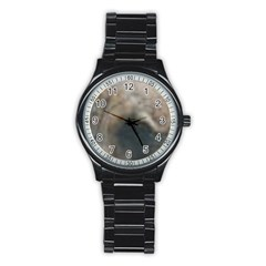 Whippet Brindle Eyes  Stainless Steel Round Watch