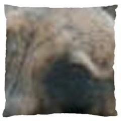 Whippet Brindle Eyes  Large Flano Cushion Case (Two Sides)