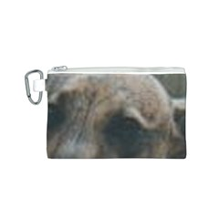 Whippet Brindle Eyes  Canvas Cosmetic Bag (S)