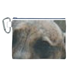 Whippet Brindle Eyes  Canvas Cosmetic Bag (L)