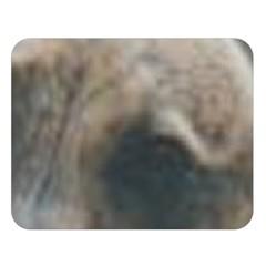 Whippet Brindle Eyes  Double Sided Flano Blanket (Large)