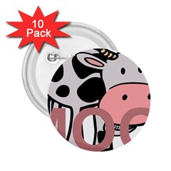 Moo Cow Cartoon  2.25  Buttons (10 pack)