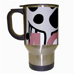 Moo Cow Cartoon  Travel Mugs (White)