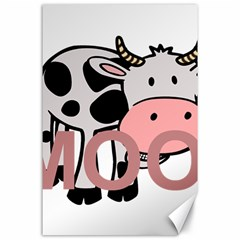 Moo Cow Cartoon  Canvas 24  x 36