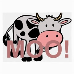 Moo Cow Cartoon  Large Glasses Cloth