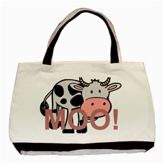 Moo Cow Cartoon  Basic Tote Bag (Two Sides)