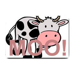Moo Cow Cartoon  Small Doormat