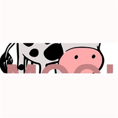 Moo Cow Cartoon  Large Bar Mats