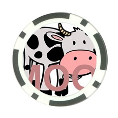 Moo Cow Cartoon  Poker Chip Card Guards