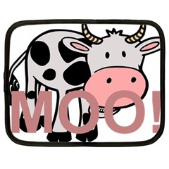 Moo Cow Cartoon  Netbook Case (Large)