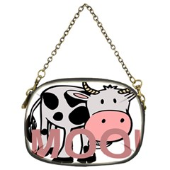 Moo Cow Cartoon  Chain Purses (Two Sides)