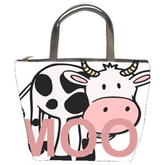 Moo Cow Cartoon  Bucket Bags