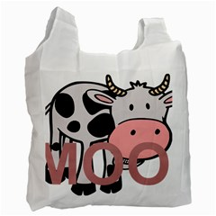 Moo Cow Cartoon  Recycle Bag (Two Side)