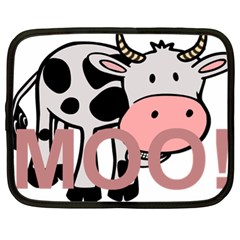 Moo Cow Cartoon  Netbook Case (XL)