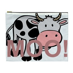 Moo Cow Cartoon  Cosmetic Bag (XL)