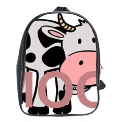 Moo Cow Cartoon  School Bags(Large)
