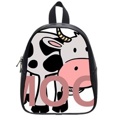 Moo Cow Cartoon  School Bags (Small)