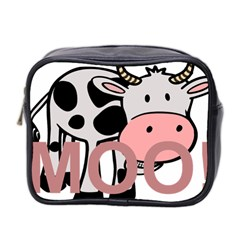 Moo Cow Cartoon  Mini Toiletries Bag 2-Side