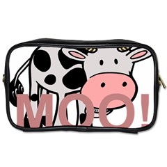 Moo Cow Cartoon  Toiletries Bags 2-Side