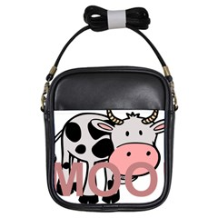 Moo Cow Cartoon  Girls Sling Bags