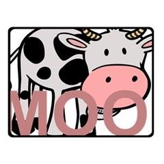 Moo Cow Cartoon  Fleece Blanket (Small)