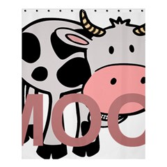 Moo Cow Cartoon  Shower Curtain 60  x 72  (Medium)