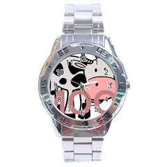 Moo Cow Cartoon  Stainless Steel Analogue Watch