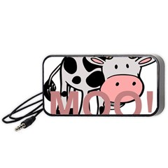 Moo Cow Cartoon  Portable Speaker (Black)