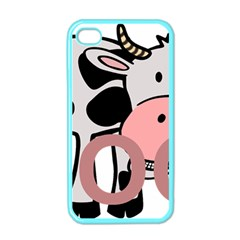 Moo Cow Cartoon  Apple iPhone 4 Case (Color)