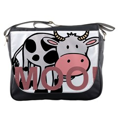 Moo Cow Cartoon  Messenger Bags