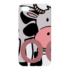Moo Cow Cartoon  Apple iPhone 4/4S Premium Hardshell Case
