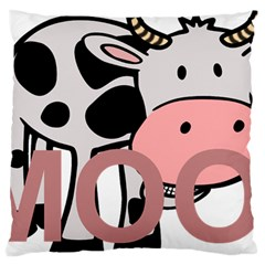 Moo Cow Cartoon  Large Cushion Case (Two Sides)