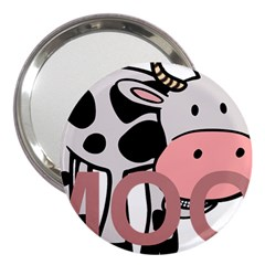 Moo Cow Cartoon  3  Handbag Mirrors