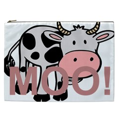 Moo Cow Cartoon  Cosmetic Bag (XXL)