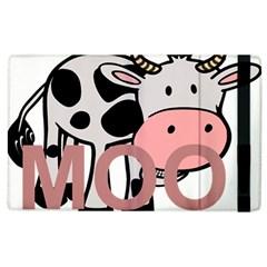 Moo Cow Cartoon  Apple iPad 2 Flip Case