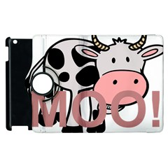 Moo Cow Cartoon  Apple iPad 3/4 Flip 360 Case
