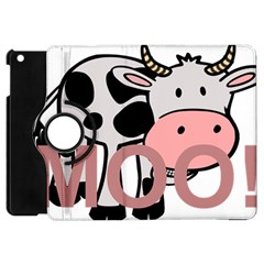 Moo Cow Cartoon  Apple iPad Mini Flip 360 Case