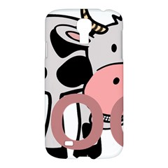 Moo Cow Cartoon  Samsung Galaxy S4 I9500/I9505 Hardshell Case