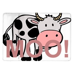 Moo Cow Cartoon  Samsung Galaxy Tab 10.1  P7500 Flip Case