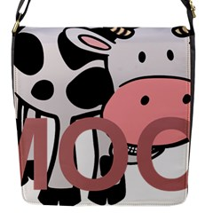 Moo Cow Cartoon  Flap Messenger Bag (S)