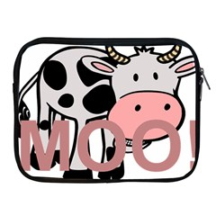 Moo Cow Cartoon  Apple iPad 2/3/4 Zipper Cases
