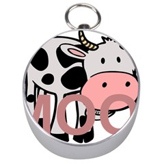 Moo Cow Cartoon  Silver Compasses
