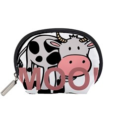 Moo Cow Cartoon  Accessory Pouches (Small)