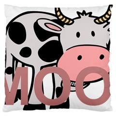 Moo Cow Cartoon  Large Flano Cushion Case (One Side)
