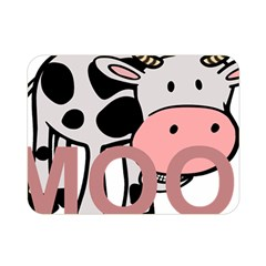 Moo Cow Cartoon  Double Sided Flano Blanket (Mini)