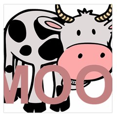 Moo Cow Cartoon  Large Satin Scarf (Square)